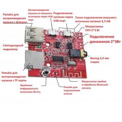 MP3 модуль с bluetooth, USB, пультом