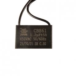 Конденсатор 1.2mF 450V прямоугольный с проводом JYUL CBB-61