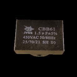 Конденсатор 1.5mF 450V прямоугольный JYUL CBB-61