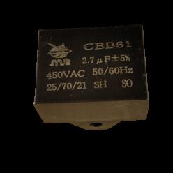 Конденсатор 2.7mF 450V прямоугольный JYUL CBB-61