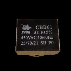 Конденсатор 3mF 450V прямоугольный JYUL CBB-61