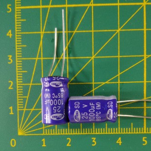 1000 мкФ х  25В Конденсатор электролитический 85С