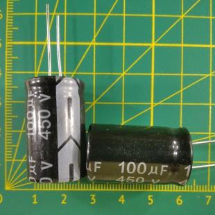 100 мкФ х  450В Конденсатор электролитический 105С