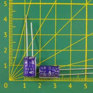 10 мкФ х  160В Конденсатор электролитический 85С