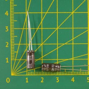 10 мкФ х  50В Конденсатор электролитический 105С