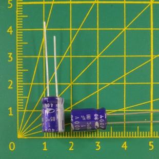 1 мкФ х  400В Конденсатор электролитический 85С