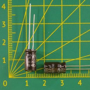 2,2 мкФ х  250В Конденсатор электролитический 105С