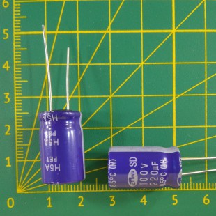 220 мкФ х  100В Конденсатор электролитический 85С