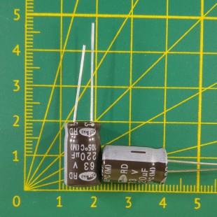 220 мкФ х  63В Конденсатор электролитический 105С