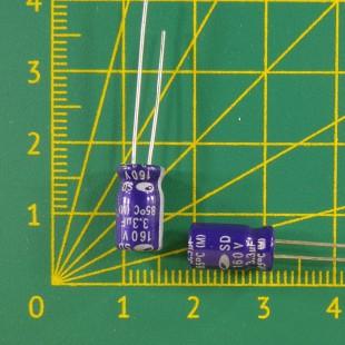 3,3 мкФ х 160В Конденсатор электролитический 85С