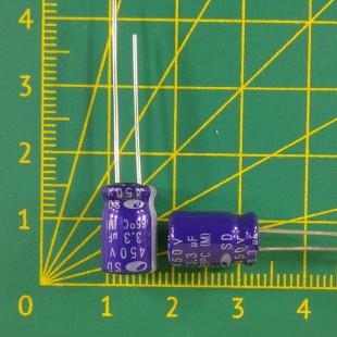 3,3 мкФ х 450В Конденсатор электролитический 85С
