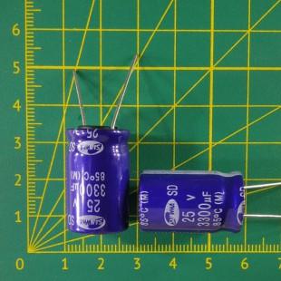 3300 мкФ х  25В Конденсатор электролитический 85С