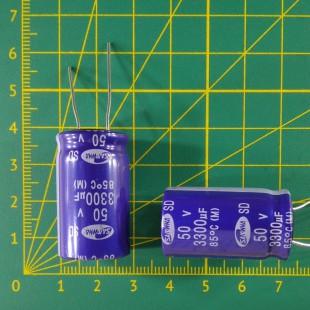 3300 мкФ х  50В Конденсатор электролитический 85С