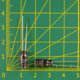 33 мкФ х  50В Конденсатор электролитический 105С