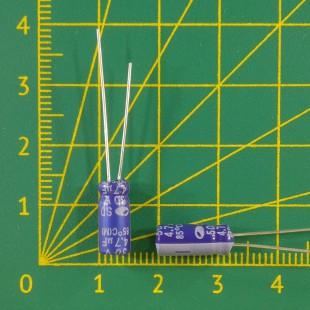 4,7 мкФ х  50В Конденсатор электролитический 85С