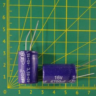 4700 мкФ х  16В Конденсатор электролитический 85С