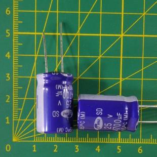 4700 мкФ х  25В Конденсатор электролитический 85С