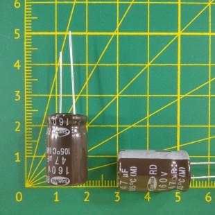 47 мкФ х  160В Конденсатор электролитический 105С