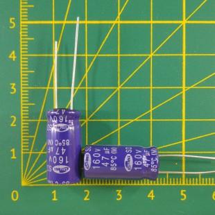 47 мкФ х  160В Конденсатор электролитический 85С