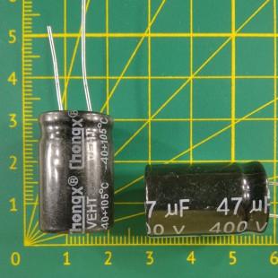 47 мкФ х  400В Конденсатор электролитический 105С