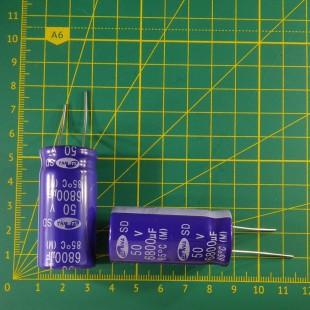 6800 мкФ х  50В Конденсатор электролитический 85С