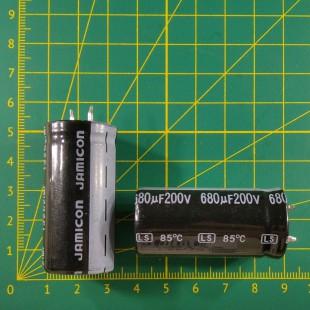 680 мкФ х  200В Конденсатор электролитический 105С