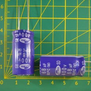 68 мкФ х  400В Конденсатор электролитический 85С