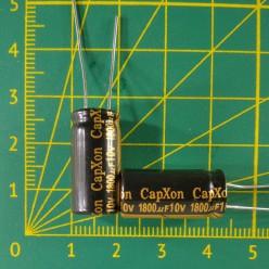 Конденсатор компьютерный 1800 мкФ х 10В