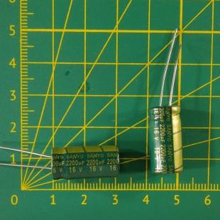 Конденсатор компьютерный 2200 мкФ х 16В