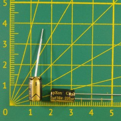 Конденсатор компьютерный 220 мкФ х 16В