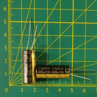 Конденсатор компьютерный 3300 мкФ х 10В