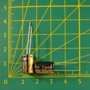 Конденсатор компьютерный 330 мкФ х 25В