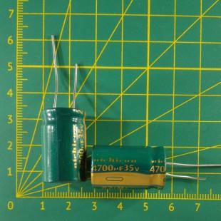 Конденсатор компьютерный 4700 мкФ х 35В