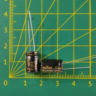 Конденсатор компьютерный 470 мкФ х 10В