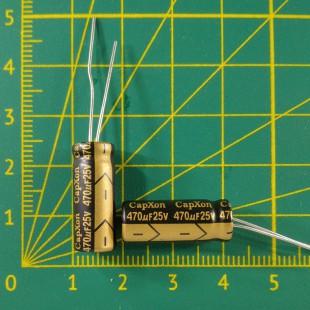 Конденсатор компьютерный 470 мкФ х 25В