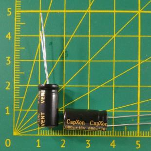 Конденсатор компьютерный 680 мкФ х 16В