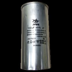 Конденсатор JYUL CBB-65 100mF 450V в алюминиевом корпусе