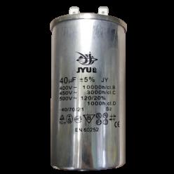 Конденсатор JYUL CBB-65 40mF 450V в алюминиевом корпусе
