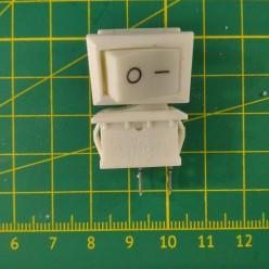 Кнопка на 2 положения KCD1-101-1 белая