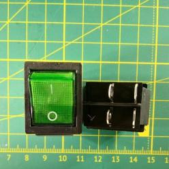 Кнопка на 2 положения KCD2-201N, зелёная