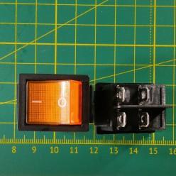 Кнопка на 2 положения KCD2-201N, оранжевая