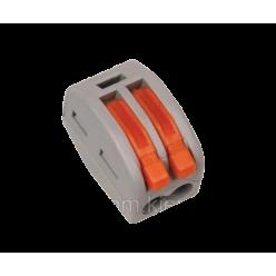 Клемма WAGO многоразовая с рычагами на 2 контакта под кабель 0,08-2,5мм²