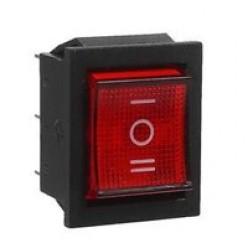 Кнопка одинарная трехпозиционная, красная