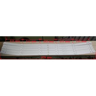 6-led 6V 578 mm 32 MS-L2082 V2 JS-D-JP32DM-061EC E32DM1000 ND32N2100J