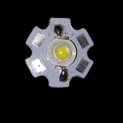 Светодиод 1W холодный белый на подложке