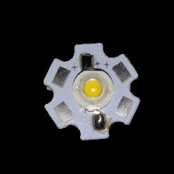 Светодиод 1W теплый белый на подложке