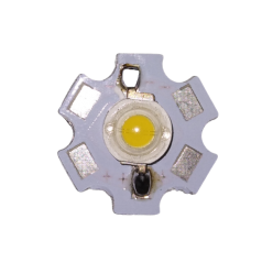 Светодиод 3W теплый белый на подложке