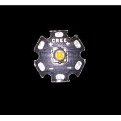 Светодиод Cree T6 20 мм тёплый белый чёрная подложка