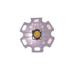 Светодиод Cree T6 20 мм тёплый белый белая подложка