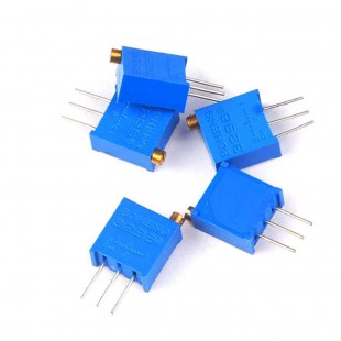 Резистор подстроечный многооборотный 3296W 500 кОм в наличии и под заказ